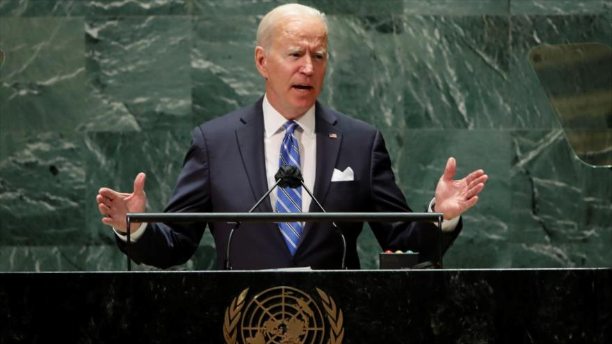 El presidente de EE.UU., Joe Biden, habla en el 76.º período de sesiones de la Asamblea General de la ONU, 21 de septiembre de 2021. (Foto: Reuters)