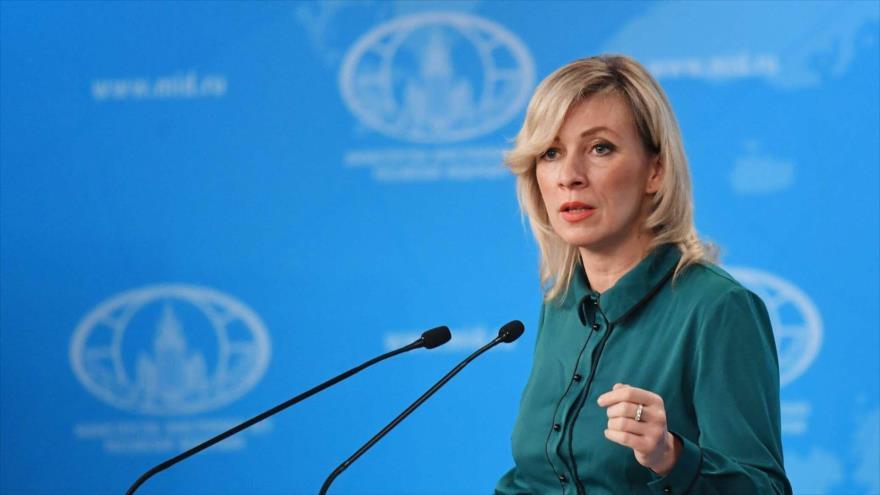 La portavoz del Ministerio ruso de Asuntos Exteriores, María Zajarova.