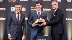Lewandowski recibe la Bota de Oro como máximo goleador de Europa