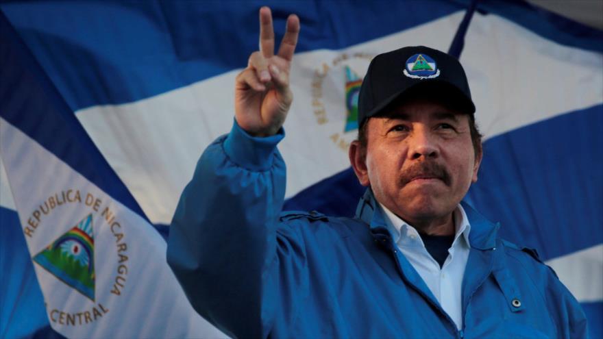 El presidente nicaragüense Daniel Ortega gesticula durante una marcha en Managua, Nicaragua, 5 de septiembre de 2018. (Foto: Reuters)