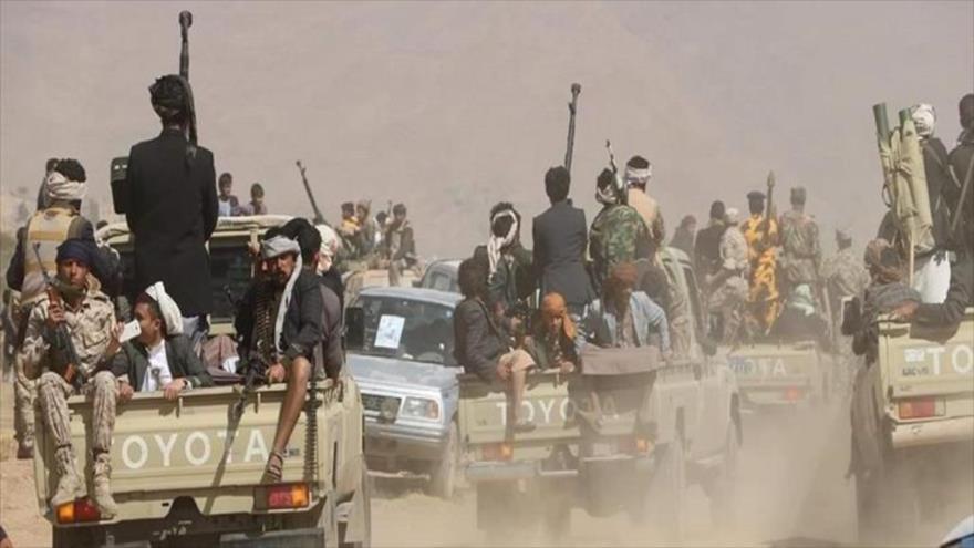 Fuerzas populares yemeníes durante una operación.
