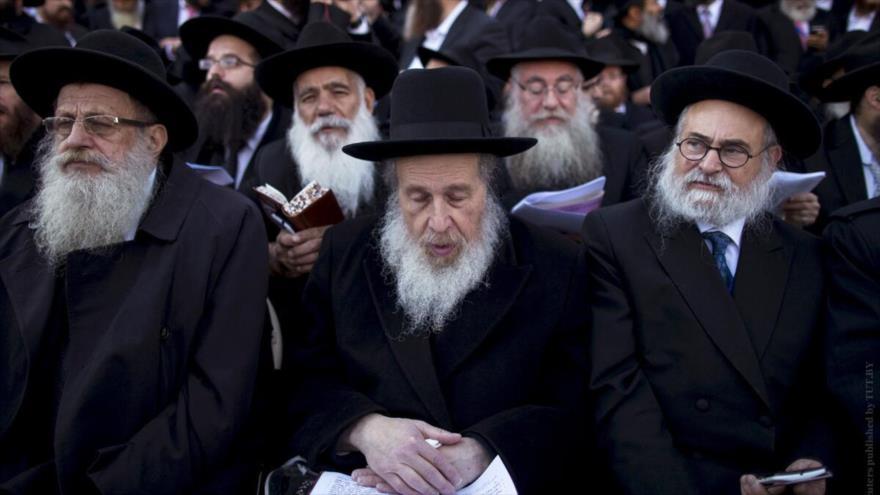 Rabinos en un acto en Nueva York, EE.UU. (Foto: Reuters)