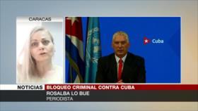 Lo Bue: Bloqueo criminal busca torpedear los logros de Cuba