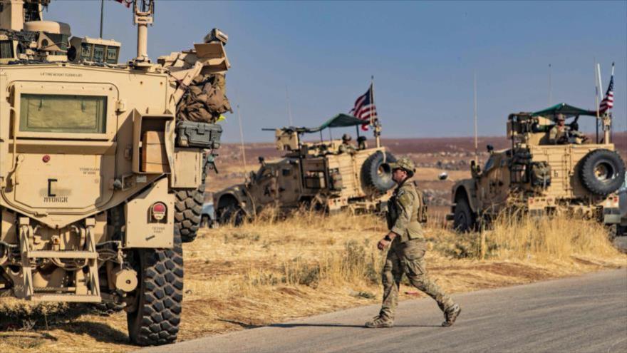 Los vehículos blindados estadounidenses desplegados en el norte de Siria, 31 de octubre de 2019.