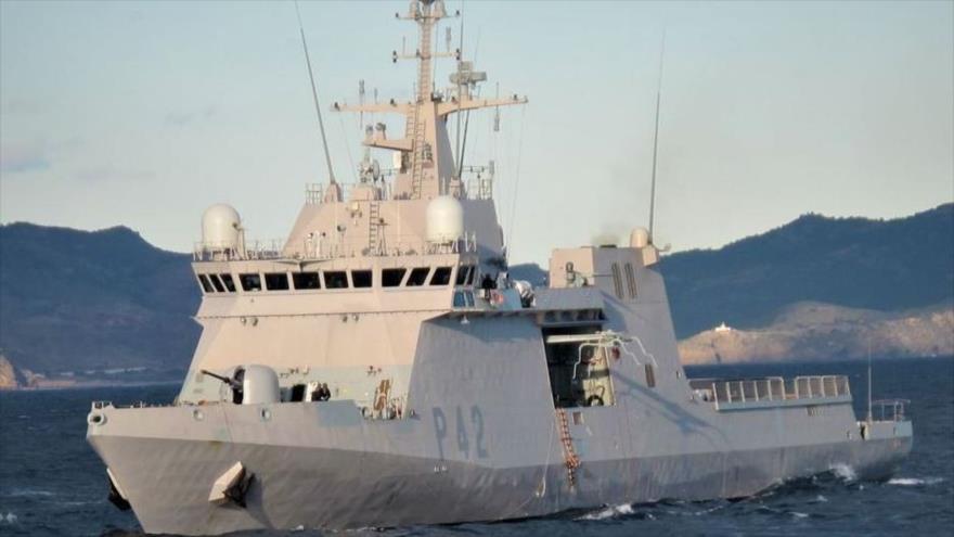 Un buque patrullero Rayo de la Armada Española durante un ejercicio en el mar Negro. (Foto: Faro de Vigo)