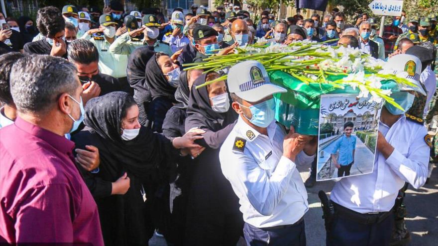 El funeral de Ali Landi, Isfahán, Irán, 24 de septiembre de 2021. (Foto: IMNA)