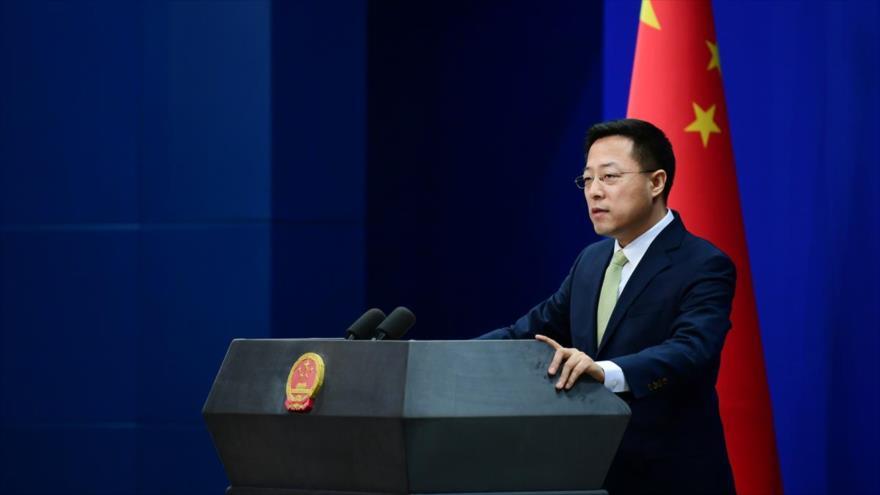 Portavoz del Ministerio chino de Asuntos Exteriores, Zhao Lijian.