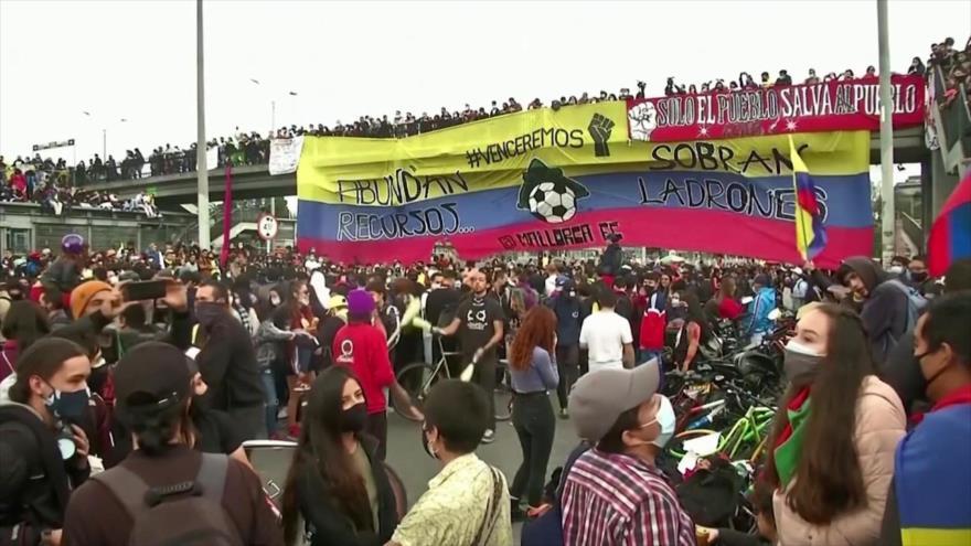 Protestas antigubernamentales vuelven a las calles de Colombia