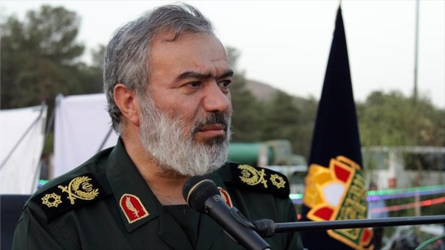 El jefe adjunto del Cuerpo de Guardianes de la Revolución Islámica (CGRI) de Irán, el general de brigada AliFadavi.