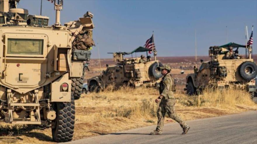 Vehículos blindados estadounidenses desplegados en el norte de Siria, 31 de octubre de 2019. (Foto: AFP)