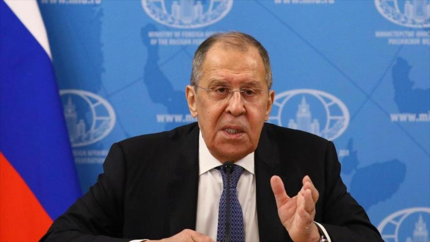 El canciller ruso, Serguéi Lavrov, habla durante una conferencia de prensa. (Foto: AFP)