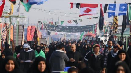 Miles de personas participan en la peregrinación a pie de Arbaín