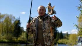 Cámaras captan a Putin gozando de vacaciones a la taiga rusa