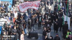 Multitudinaria congregación conmemora Arbain en Teherán