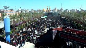 Marcha de peregrinos chiíes en el día de Arbaín
