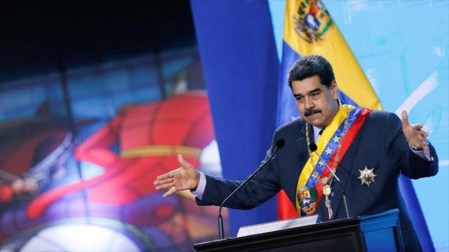 El presidente de Venezuela, Nicolás Maduro, en un acto en Caracas, la capital, 22 de enero de 2021. (Foto: Reuters)
