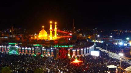 Los musulmanes chiíes celebran el día de Arbaín en Irak