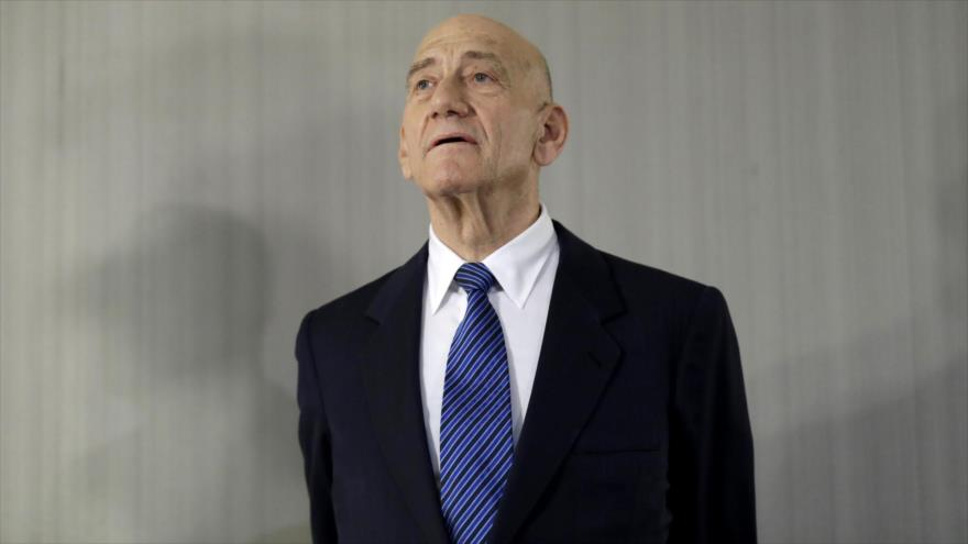 El ex primer ministro israelí Ehud Olmert en un acto en Nueva York, EE.UU., 11 de febrero de 2020. (Foto: AP)