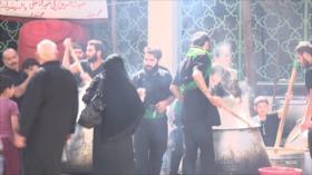 Musulmanes chiíes celebran el día de Arbaín en Siria