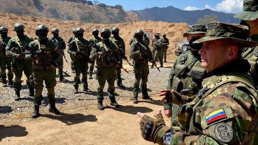 Los efectivos del Comando Estratégico Operacional de la Fuerza Armada Nacional Bolivariana (Ceofanb)