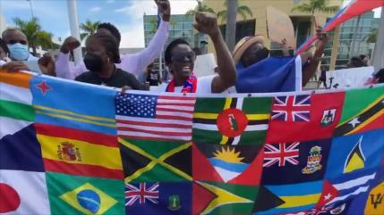 Protestan en EEUU por el trato inhumano a migrantes haitianos