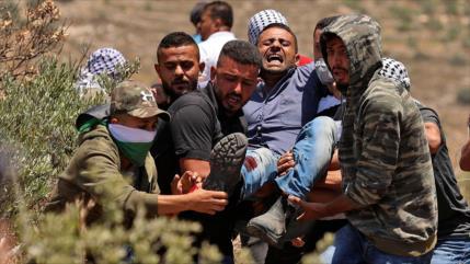 Represión israelí deja más de 90 manifestantes palestinos heridos