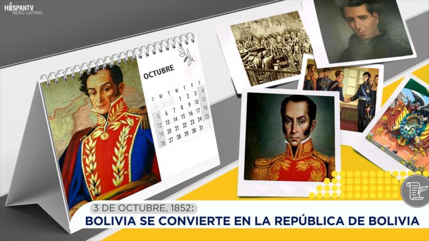 Esta semana en la historia: Bolivia se convierte en la República de Bolivia