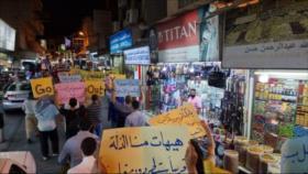 Bareiníes rechazan visita de Lapid; queman ropa 'made in Israel'