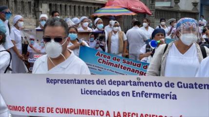 Sector de salud Guatemala pide mejores condiciones salariales