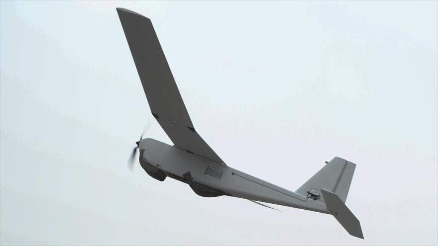 Un dron RQ-20 Puma estadounidense.