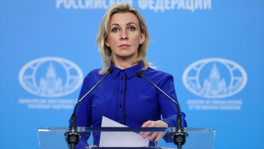 La portavoz del Ministerio de Asuntos Exteriores de Rusia, María Zajarova. (Foto: Sputnik)