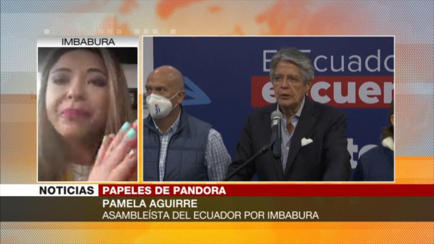 Aguirre: Guillermo Lasso debe ser investigado por el caso Pandora