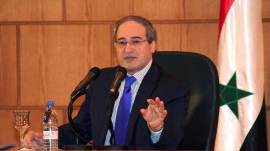 El ministro de Asuntos Exteriores de Siria, Faisal al-Miqdad