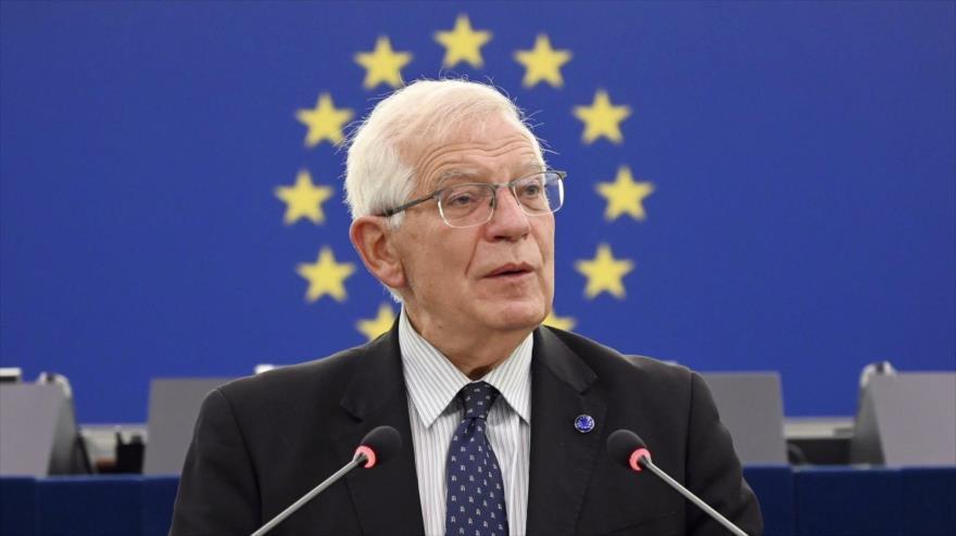 El jefe de la Diplomacia de la Unión Europea, Josep Borrell, ofrece un discurso en Estrasburgo, Francia, 5 de octubre de 2021. (Foto: Reuters)