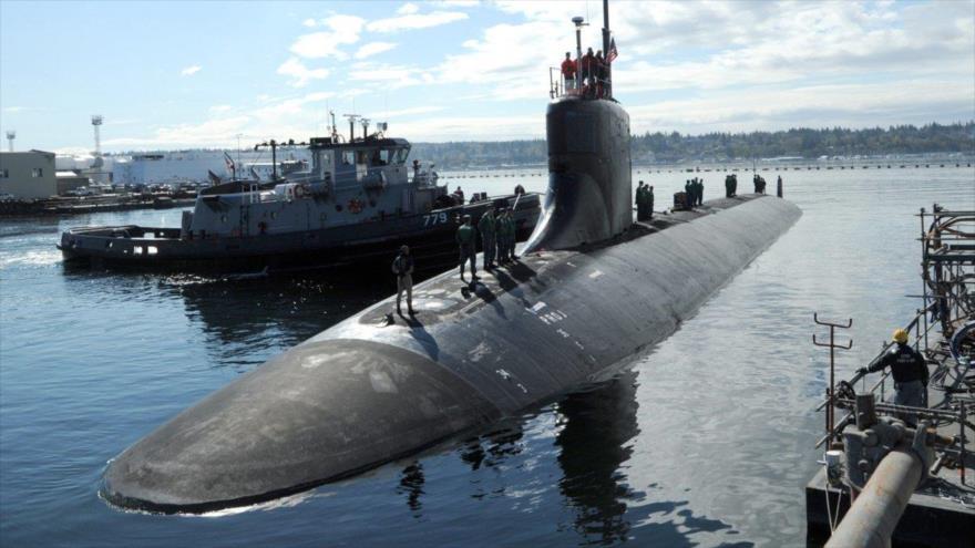 Submarino estadounidense de ataque clase Seawolf USS Connecticut en la base naval Kitsap, en la costa del Pacífico (estado de Washington).