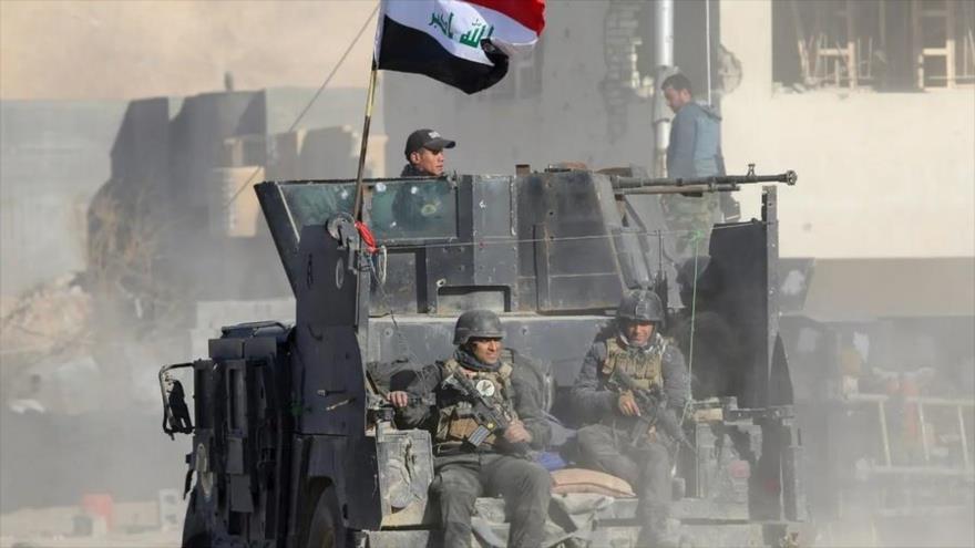 Tropas iraquíes en Ramadi, provincia occidental de Al-Anbar, tras una victoria ate el grupo terrorista Daesh. (Foto: Reuters)
