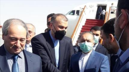 Canciller iraní reitera apoyo a Siria en su visita a Damasco