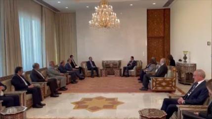 Canciller de Irán se reúne con el presidente sirio Bashar al-Asad