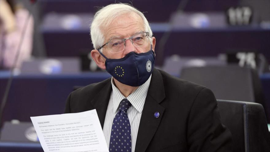 Jefe de la Política Exterior de la Unión Europea (UE), Josep Borrell, en un acto en Estrasburgo, Francia, 5 de octubre de 2021. (Foto: AFP)