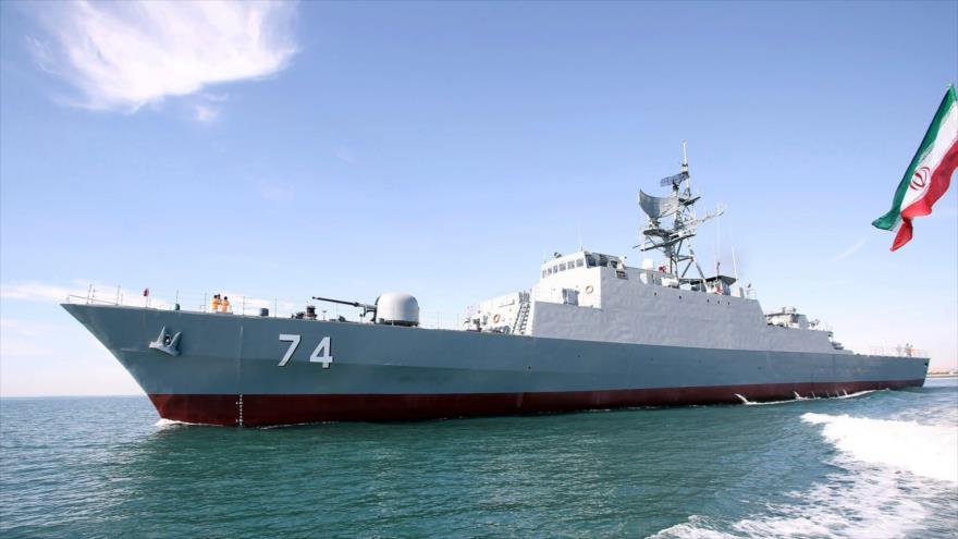 El destructor Sahand de la Armada iraní.