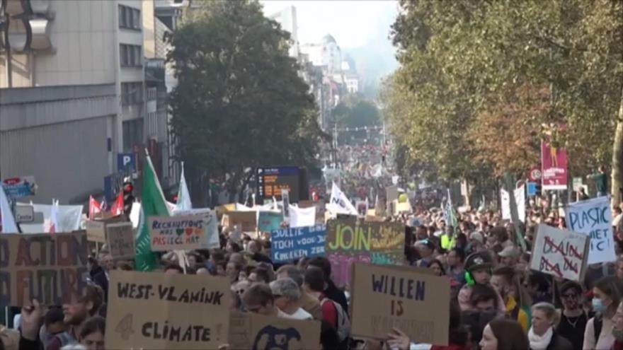 Masivas protestas en Europa contra el cambio climático