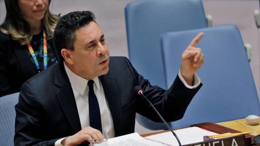 El Embajador de Venezuela ante las Naciones Unidas (ONU), Samuel Moncada, 28 de febrero de 2019.