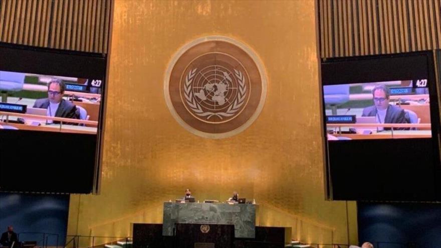 El representante de Irán ante la Primera Comisión de la Asamblea General de las Naciones Unidas, Heidar Ali Baluyi, 12 de octubre de 2021