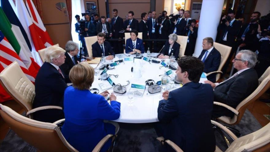Líderes del Grupo de los Siete reunidos en la ciudad canadiense de Quebec, junio de 2018. (Foto: Reuters)
