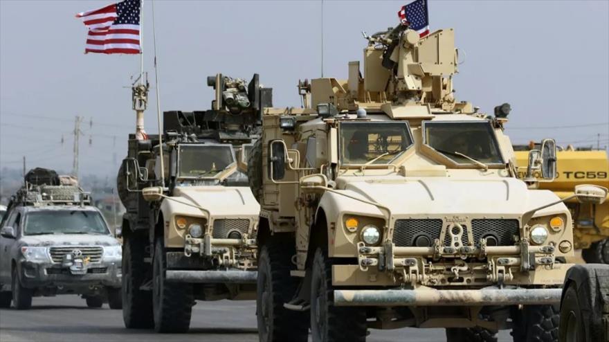 Un convoy militar de EE.UU. en la región semiautónoma del Kurdistán iraquí, 21 de octubre de 2019. (Foto: AFP)