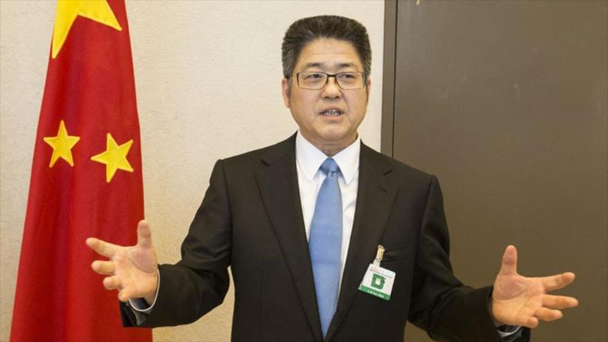 El viceministro chino de Relaciones Exteriores, Le Yucheng.