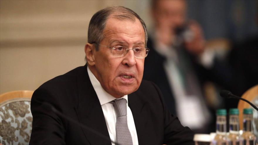 El canciller ruso, Serguéi Lavrov, durante una conferencia en Moscú, Rusia, 18 de marzo de 2021. (Foto: Reuters)