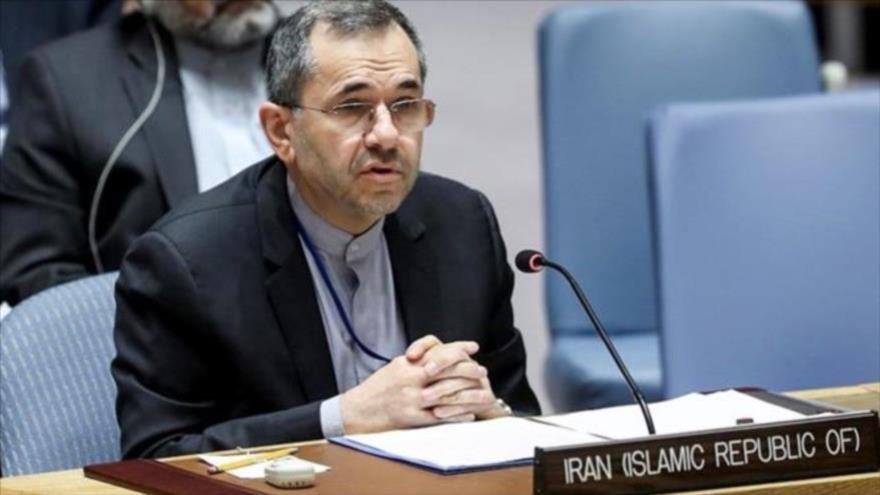 Representante permanente de Irán ante la Organización de las Naciones Unidas (ONU), Mayid Tajt Ravanchi. (Fuente: IRNA)