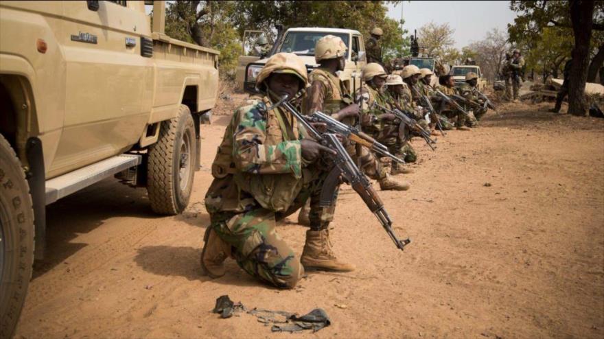 Un grupo de militares del Ejército de Níger.
