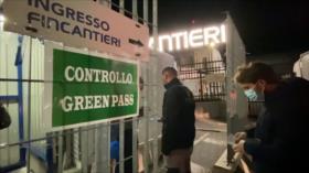 Sigue tensión en Italia por la obligación del uso de pase sanitario